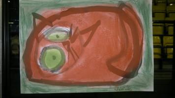 """""""Rote Katze mit grünen Augen"""""""