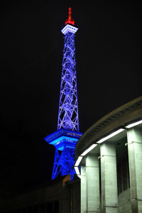 IGW 2013 Funkturm beleuchtet in den niederländischen Nationalfarben IGW 2013 International Green Week Berlin 2013 Radio Tower at night in the national colors of Netherlands