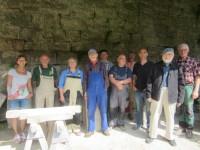Teilnehmer/innen der Sandsteinwerkstatt Kronach 2013